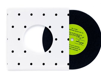 Polka Dot Record with Sleeve Invitation