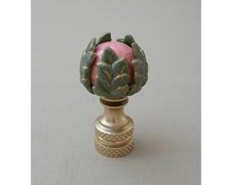 Roman Leaf Lamp Finial.. Custom Crafted...Custom Colors