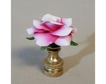 Ombre' Rose Lamp Finial...Hand Crafted to Order...Custom Colors.