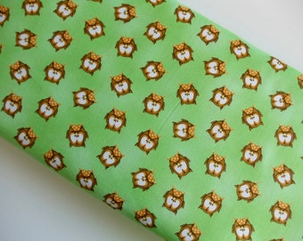 ABC 123 Owls Green - Henry Glass - Cotton Woven By The Yard