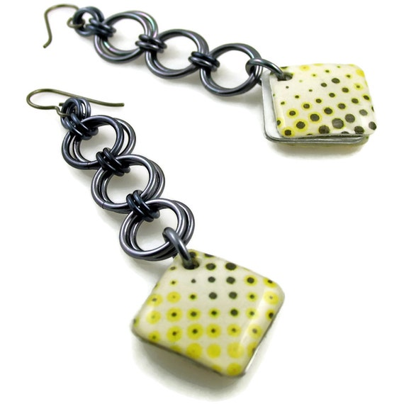 Citron is the New Neutral Dangle Earrings