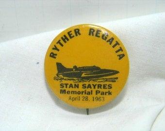 Vintage Hydroplane Pin Stan Sayres Ryther Regatta Memorial Park 1963 Slo Mo