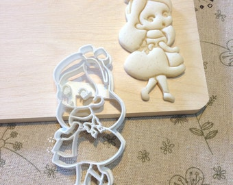 Little Alice in Wonderland Cookie Cutter - Fondant Icing Cake Cupcake Topper Iced Sugar Cookies Baby Shower Girls Birthday Tea Party Favors