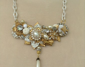 White Assemblage Necklace