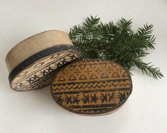 Paper Mache Primiitve Aztec Box