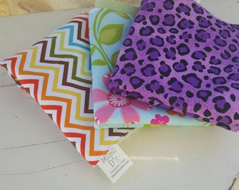 3 pack burp cloths- Choose your own