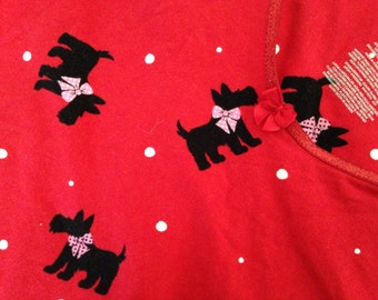 SCOTTY DOGS red  Pink Black sleepshirt Womens large to x large