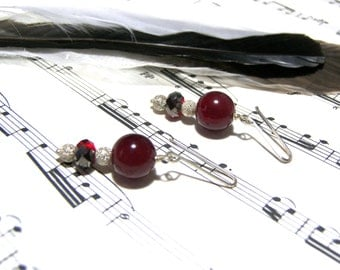 Red Chalcedony Earrings Holiday Gifts for Women Silver Earrings Popular Jewelry Top Selling Jewelry Gift Ideas