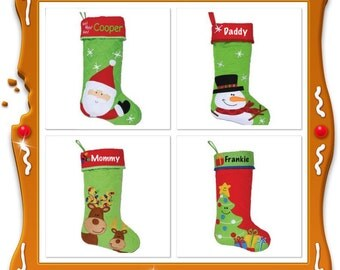 Personalized christmas stocking , STEPHEN JOSEPH , reindeer stocking , family christmas stockings , kids stocking , monogrammed stocking