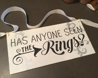 Toddler ring bearer sign