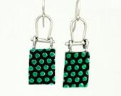 Green Dot Earrings