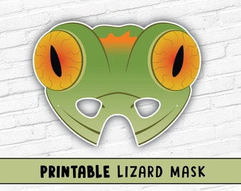 Lizard Mask | Gecko Lizard Mask | Reptile Party Mask | Halloween Costume