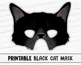 Black Cat Mask | Halloween Mask | Kitty | Witches Cat