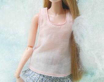 jiajiadoll pink Vest for Momoko or Misaki or Blythe or Middie Blythe or ob27 ob23
