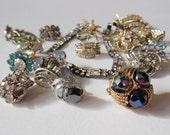 Rhinestone Jewelry Lot - Vintage Mix Repurpose or Repair