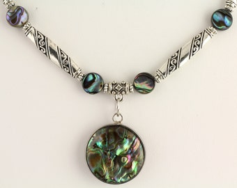 Abalone Necklace.Listing 450631042