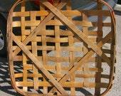 Premium Large Tobacco Basket Vintage 1950's FREE SHIPPING