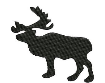 SALE 65% off Moose Silhouette Shadow Machine Embroidery Designs 4x4 & 5x7 Instant Download Sale