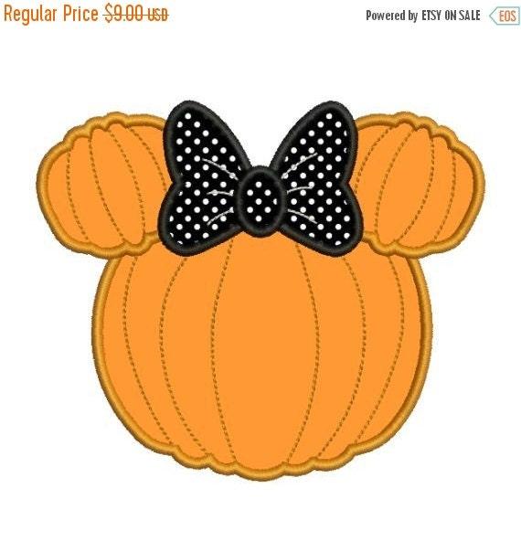 SALE 65% off Applique Minnie Mouse Pumpkin by ...