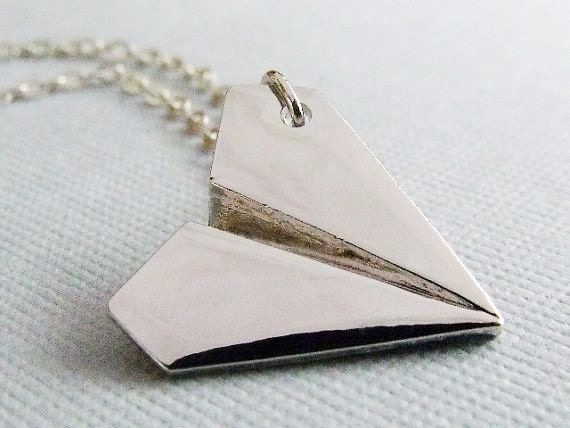 Harry Styles, Paper Airplane Necklace, Origami Airplane Necklace, Harry Styles One Direction Paper Airplane Necklace