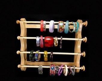 ON SALE Large Wall Mounted Hanging Bracelet Holder Storage Display Oak