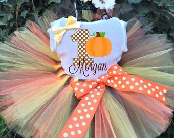 Fall Pumpkin Tutu Set - Fall Tutu Outfit - Fall Tutu Set - Fall Shirt