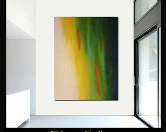 58x44 Ex large original modern landscape abstract painting by Elsisy, US artist