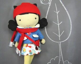 Studio Doll Large - Lotti. Handmade, Doll, Eco Friendly, Fox, Plush, Toy, Children, Gift