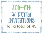 Add-On : 30 Extra Invitations for a Total of 45 Invitations