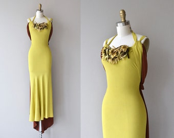 Capolavoro dress | vintage 1930s dress | crepe 30s long gown