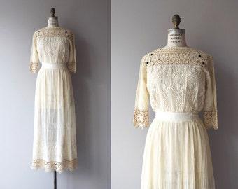 Tullannah wedding dress | antique 1910s dress | lace Edwardian dress