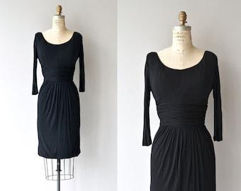 Directrice dress | vintage 1950s dress | little black 50s dress