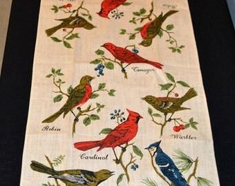 Vintage Birds on Linen