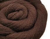 Merino Wool Yarn - Recycled Lace - Wool Yarn - Chocolate 130416