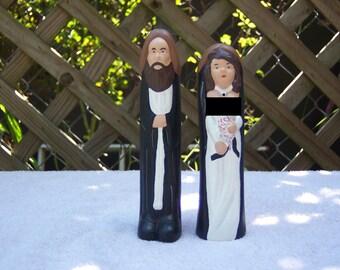 Mr. & Mrs. Cake Topper in a Tux