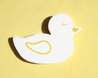 Ducky Wall Art Baby Room Decor Baby Wall Art Baby Wall Hanging Child's Wall Art Hand Painted Duck Wooden Baby Duck Wall Art Nursery Decor