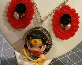 MOVING SALE Wonder Woman Floral Necklace