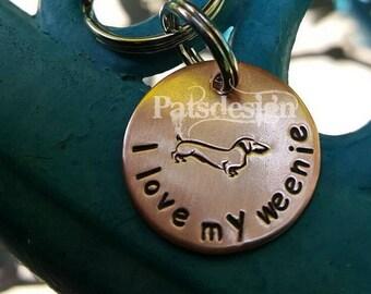 Weenie keychain, dachshund keychain, Pet owner keychain, Pet owner gift, Dachshund owner, Doxie keychain, Vet gift