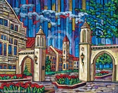Sample Gates, Indiana University, IU Print, 8x10