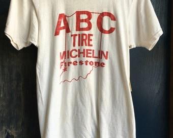 Vintage ABC tire michelin t shirt