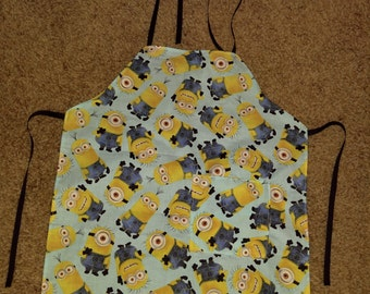 Boys Minions apron with pockets size 3/4