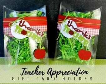 KIT Pillow Box/ Teacher Appreciation Gift Card Holder / Pillow Box / Teacher Appreciation Gifts / Gift Cards / Treat Box /