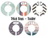 Tribal Nursery Closet Dividers, boho BOYS Nursery, Baby Clothes Dividers, Plastic Clothes Organizer, Arrows Chevrons