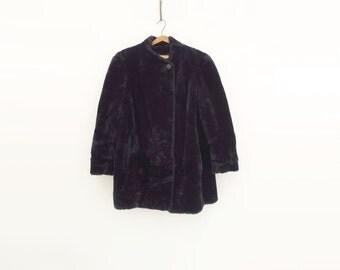 Black Oversize Coat Vintage Black Jacket 80s Black Faux Fur 80s Oversize Jacket 80s Black Car Coat Vintage Black Fur Black Faux Fur Coat L