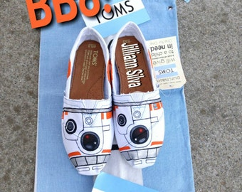 BB8 TOMS or Vans - New Shoes Included - Made to Order - MENS / WOMENs -Star Wars - Droid