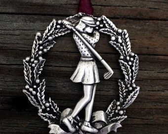 Golfer Christmas Decoration | Golfing Gift | Gift For Golfer | Handcrafted Christmas Ornaments | Fine Pewter by Treasure Cast