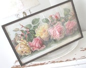 Vintage Paul De longpre * Antique Litho * JUST TOO SWEET * Shabby Chic Cottage * Pink Roses