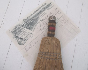 Vintage Whisk Hand Broom * Shabby Cottage * Old Farmhouse