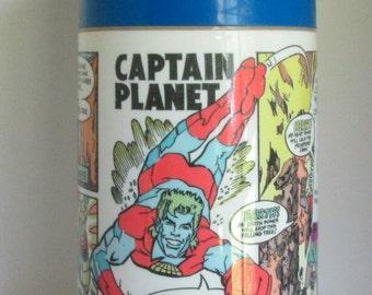 Vintage Captain Planet Aladdin Thermos 1990