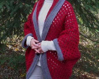 Ladies Crochet Shrug-Women's Sweater shrug